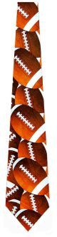 FA-3022 - Big Footballs Ties Neckties detailed image