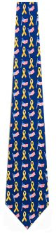 GE-1006 - Flag with Yellow Ribbon Ties Neckties detailed image