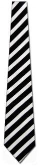 K120-1 - Black and white stripe Ties Neckties detailed image