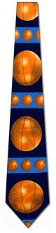 NL-1570102 - Basketball Horizonal Stripe(Navy) Ties Neckties detailed image