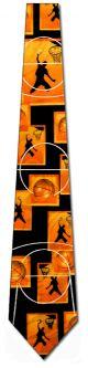 NL-1647100 - Basketball Panels (Black) Ties Neckties detailed image