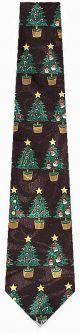 NL-676104 - Christmas Trees (Black) Ties Neckties detailed image