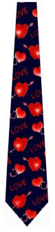 NL-NEWVAL2 - Hearts and Love (Navy) Ties Neckties detailed image