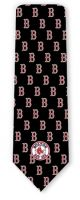 RM-350252 - MLB - Red Sox logo pattern Ties Neckties detailed image