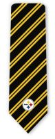 RM-350266 - NFL Pittsburgh Steelers Woven Stripe Ties Neckties detailed image