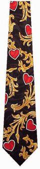 SS100-1 - Heart Swirl (Black) Ties Neckties detailed image