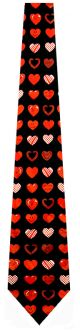 TGN-101 - Smiley Hearts Allover (Black) Ties Neckties detailed image