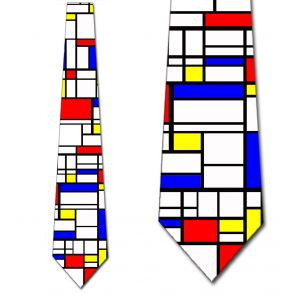 501886 - Piet Mondrian - Abstract Cubism Necktie detailed image