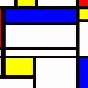 501886 - Piet Mondrian - Abstract Cubism Necktie swatch