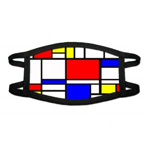 501886-M1 - Abstract Cubism Face Mask Deluxe detailed image