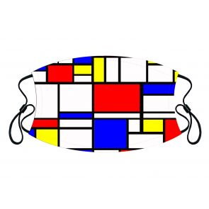 501886-M2 - Abstract Cubism Face Mask Premium detailed image