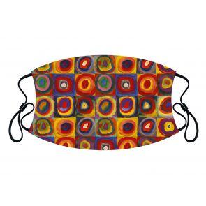501888-M2 - Squares and Circles Face Mask Premium detailed image