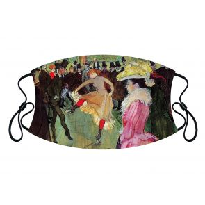 501980-M2 - Dance at the Moulin Rouge Face Mask Premium detailed image