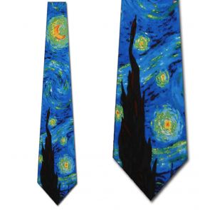 RM-133016 - The Starry Night II Ties Neckties detailed image