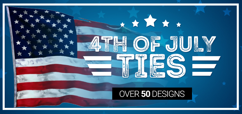 4th of July Ties and Neckties